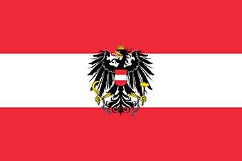 پرچم اتریش با علامت عقاب